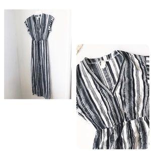 H&M striped maxi dress 2